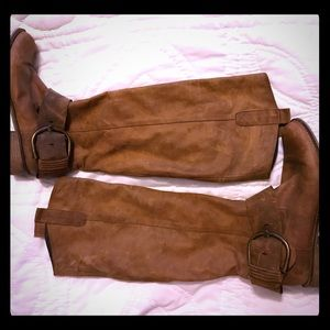 💙🍁❤️🍁Steve Madden Brown Leather Boots buckle